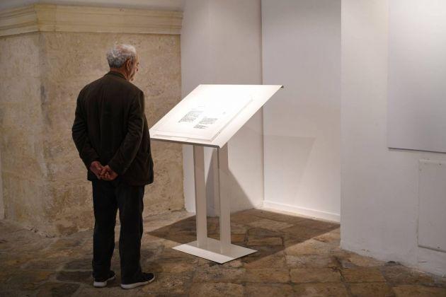 Emilio Isgrò. Piccola ma preziosa mostra in Accademia. Installation view at Accademia di Belle Arti, Lecce 2018. Photo Stefano Cacciatore