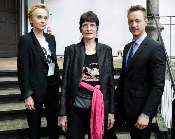 Felicitas Thun Hohenstein, Renate Bertlmann, Gernot Blumel. Photo Renate Aigner
