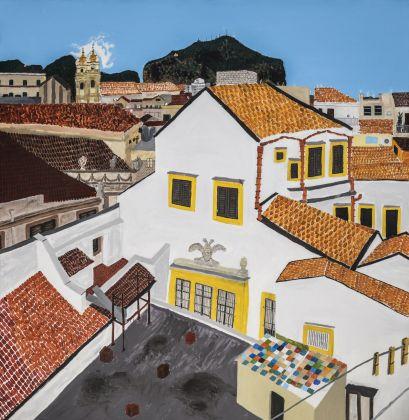 Francesco Cuttitta, Veduta cittadina con Monte Pellegrino dal terzo piano di Vicolo Valguarnera civico 14, 2015. Courtesy Nuvole Galleria, Palermo
