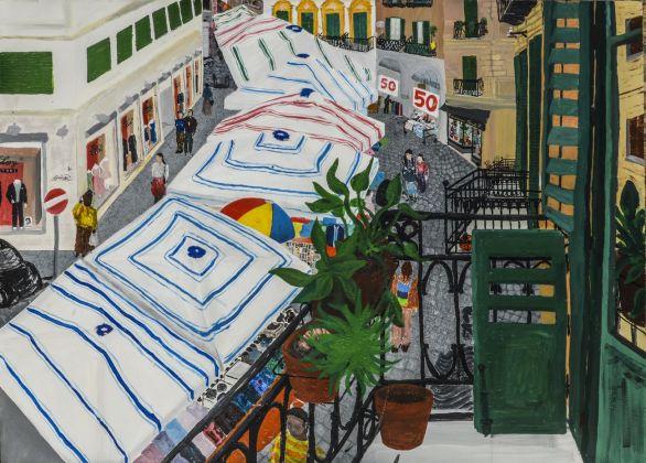 Francesco Cuttitta, Via Bandiera vista dal primo piano del civico 67, 2018. Courtesy Nuvole Galleria, Palermo
