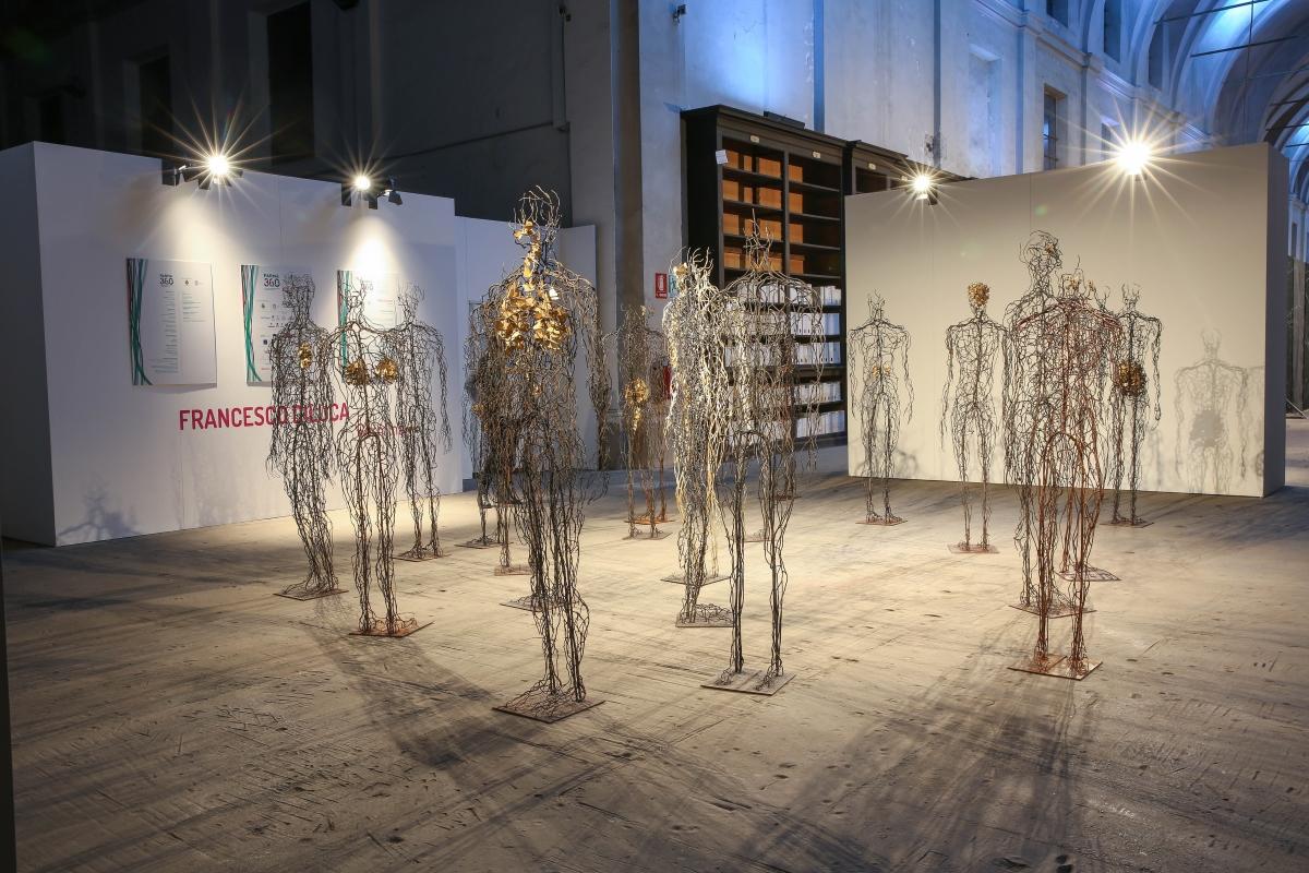 Francesco Diluca. Germina. Exhibition view at Ospedale Vecchio, Parma 2018