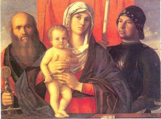 Giovanni Bellini, Madonna col Bambino tra San Paolo e San Giorgio, 1490 ca. Venezia, Gallerie dell'Accademia