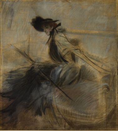Giovanni Boldini, L'Americana (Giovane signora americana), 1900-03 ca. Milano, Galleria d'Arte Moderna, Collezione Grassi © Gallerie d'Arte Moderna, foto Umberto Armiraglio