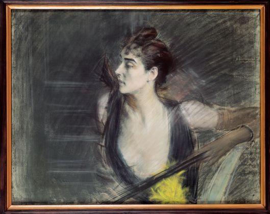 Giovanni Boldini, Madame X, la cognata di Helleu, 1885-90. Ferrara, Museo Giovanni Boldini © Gallerie d'Arte Moderna e Contemporanea, foto Luca Gavagna