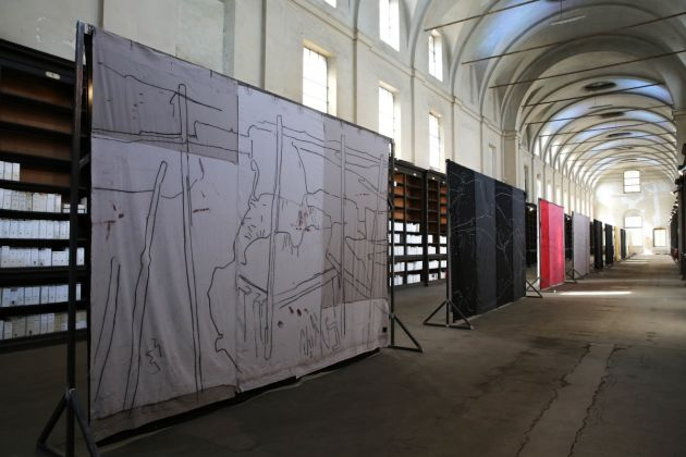 Giovanni Frangi. Lotteria Farnese. Exhibition view at Ospedale Vecchio, Parma 2018