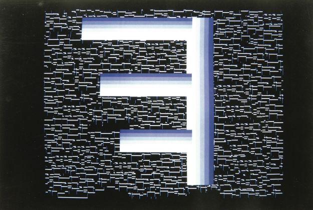 Pietro Grossi,Alfabeto etrusco, 1999 Cibachrome, arte generata al computer Centro per l'Arte Contemporanea Luigi Pecci, Prato Donazione di Carlo Palli