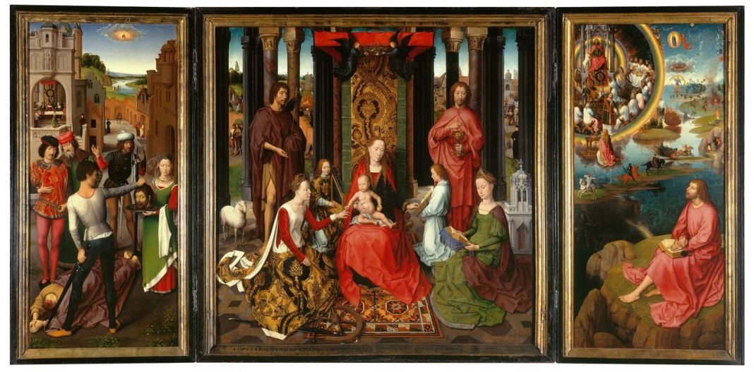 Hans Memling, Trittico del matrimonio mistico di Santa Caterina d'Alessandria, 1479 (c) Musea Brugge