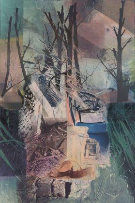Ian Tweedy, The Wing painting, 2018. Courtesy the artist & Monitor, Roma Lisbona