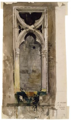 John Ruskin, Finestra di Ca' Foscari, 1845. Victoria and Albert Museum, Londra © Victoria and Albert Museum, Londra