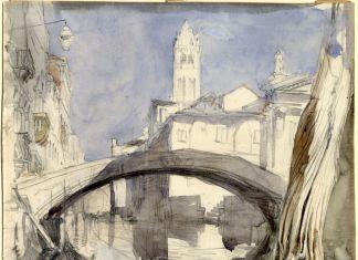 John Ruskin, Ponte dei Pugni. Ruskin Foundation (Ruskin Library, Lancaster University), Lancaster © Ruskin Foundation, Lancaster