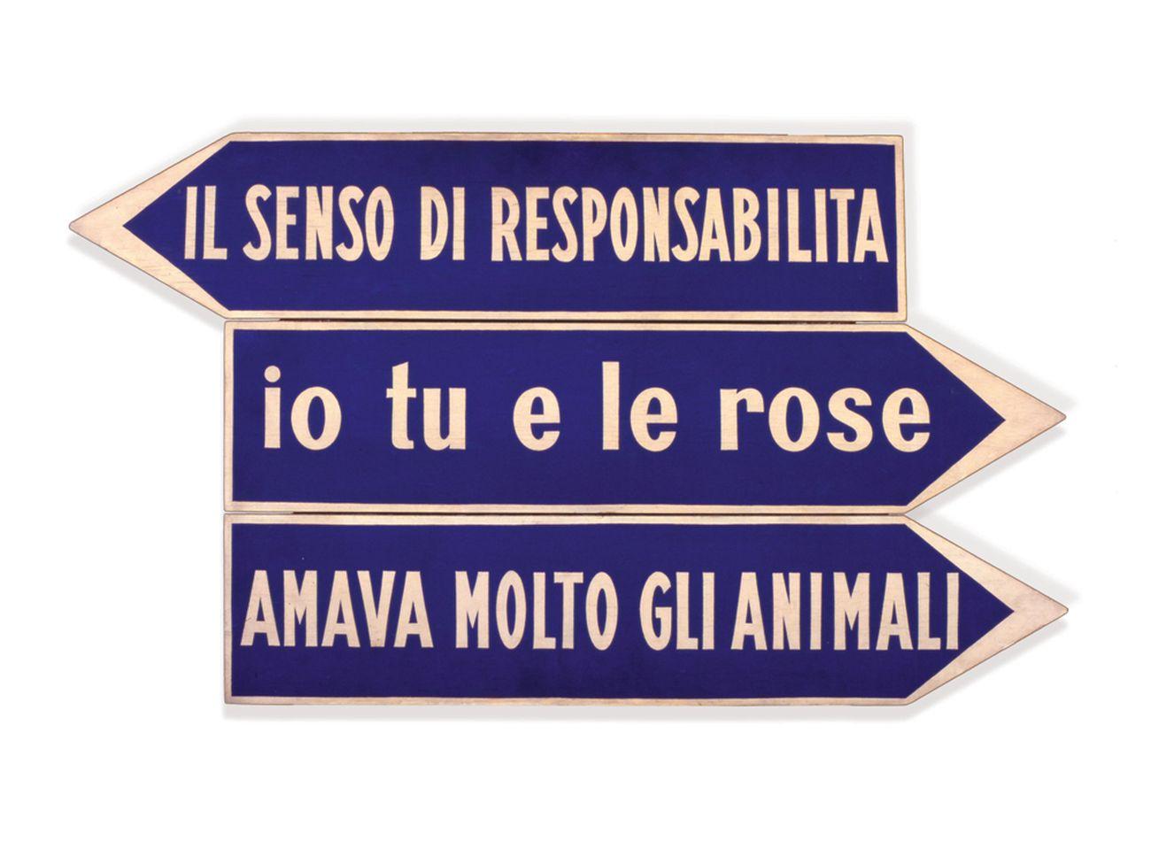 Ketty La Rocca, Io tu e le rose, 1967. Collezione Carlo Palli