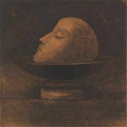 Large KM 107.499 Odilon Redon, Tête de martyr sur une coupe (Saint Jean) Kop van een martelaar op een schaal (Johannes de Doper) Head of a martyr on a dish (Saint John), 1877