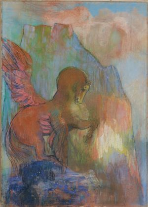 Large Odilon Redon, Pégase (Pegasus), 1895 1900, private collection