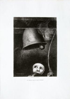 Large Odilon Redon, Un masque sonne le glas funèbre (Een masker luidt de begrafenisklok), 1882