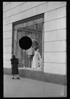 Russell Lee Untitled photo, possibly related to: Surrealistic window display, Bergdorf Goodman, New York City January 1938 Digital print from scanned 35mm b&w negative Library of Congress, Prints & Photographs Division