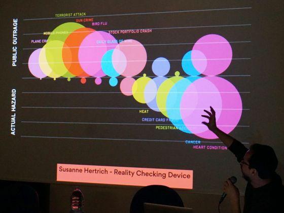 Matteo Moretti durante la conferenza di Infografica e Infoestetica 2017