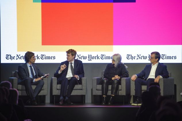 Matthew Anderson (The New York Times), Tristram Hunt, Monika Sprüth, Thaddeus Ropac. Photo credit The New York Times Art Leaders Network