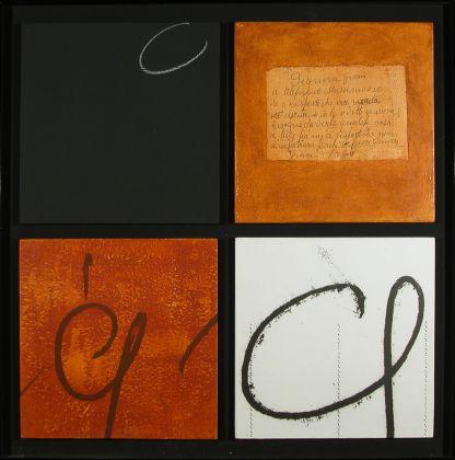 Plinio Mesciulam,Signora Grazia, 1977 Fotografia, acrilico, reperti su legno Centro per l'Arte Contemporanea Luigi Pecci, Prato Donazione dell'artista