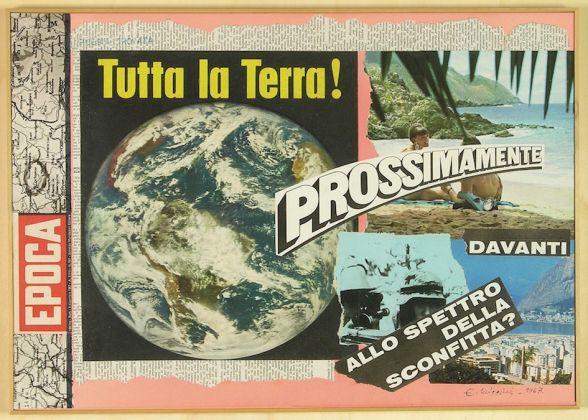 Eugenio Miccini,Poesia trovata: Epoca, 1967 Collage su cartoncino Centro per l'Arte Contemporanea Luigi Pecci, Prato Donazione di Carlo Palli