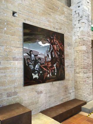 Nicola Verlato, exhibition view at De prospectiva pingendi, Todi 2018, photo Valentina Grandini