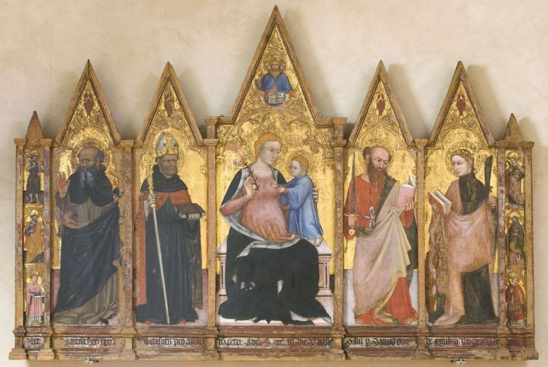 Ottaviano Nelli, Polittico con Madonna e santi, 1403