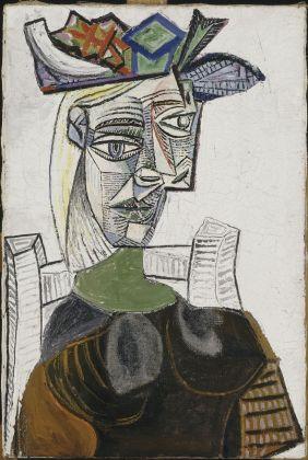 Pablo Picasso, Femme assise au chapeau, Parigi, 27 maggio 1939. Musée National Picasso Paris, Parigi © Succession Picasso, by SIAE 2017