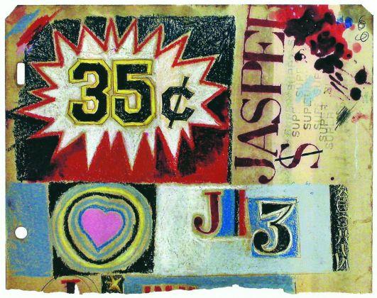 Pino Pascali, Studio omaggio a Jasper Johns, 1964