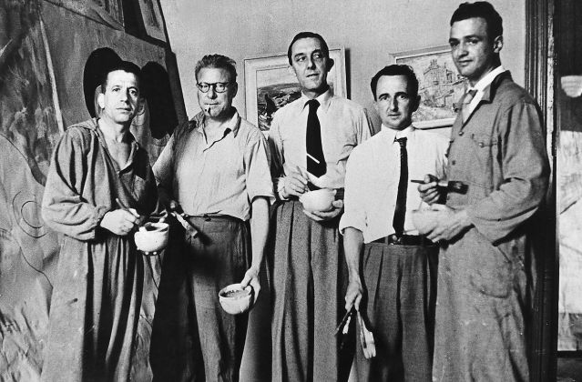 Rebolo, Volpi, Paulo Rossi Osir, Nelson Nóbrega e Mário Zanini, anni '30. Arquivo Olívio Tavares de Araújo