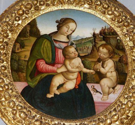 Scuola peruginesco pinturicchiesca, Madonna con il Bambino e San Giovanni Battista, prima metà del XVI secolo
