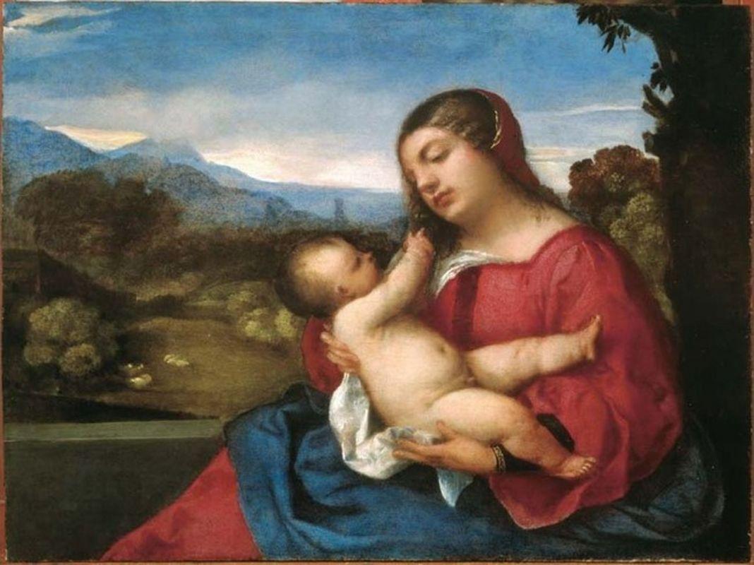 Tiziano Vecellio, Madonna col Bambino, 1509 ca. Bergamo, Accademia Carrara