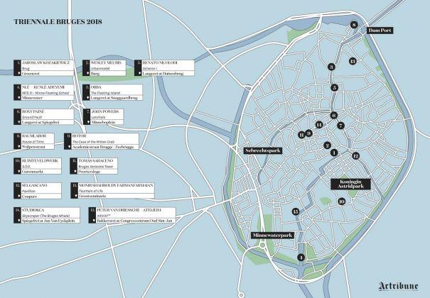 Triennale Bruges 2018. La mappa delle installazioni (c) Artribune Magazine