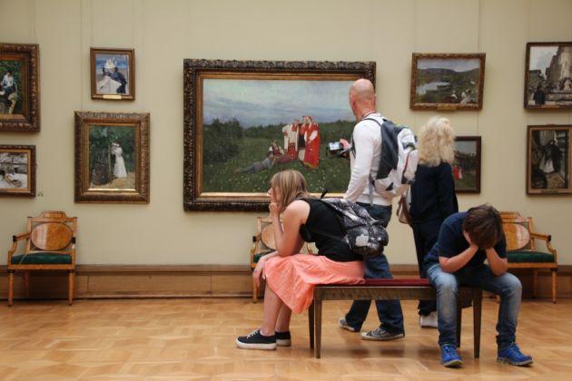 Visitatori alla Trejakow Gallery di Mosca