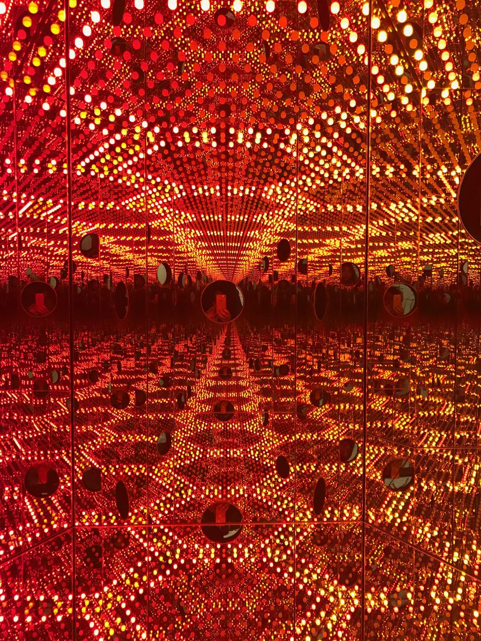 Yayoi Kusama. Life is the heart of a rainbow. Exhibition view at MACAN, Giacarta 2018