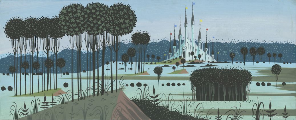 Sleeping Beauty , 1959. Eyvind Earle. Concept art Gouache on illustration board © Disney Enterprises Inc.
