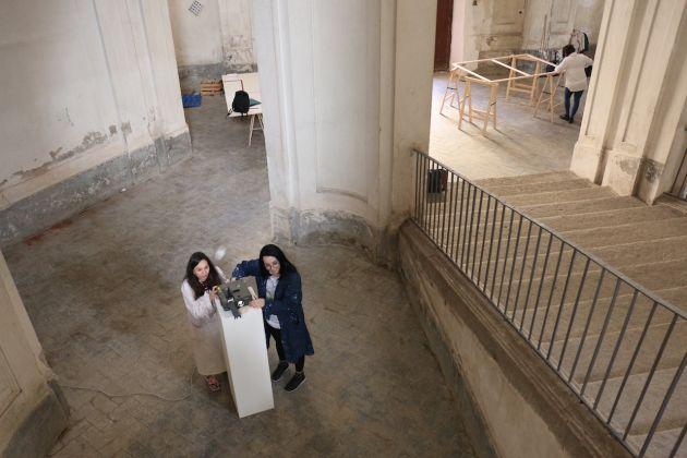 Il laboratorio di Cesare Pietroiusti a Casa Morra. ph. Iacopo Seri