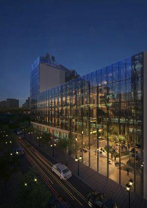 GBPA Architects, Palazzo di Fuoco. Piazzale Loreto, Milano – Vista notturna Via Padova. Courtesy GBPA Architects