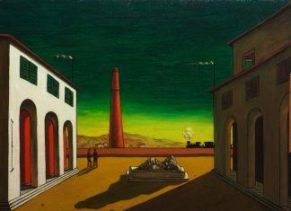 Giorgio De Chirico, Piazza d'Italia, 1952, olio su tela, Collezione privata, courtesy Galleria Salamon