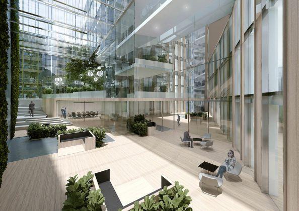 GBPA Architects, Palazzo di Fuoco. Piazzale Loreto, Milano - Vista della corte. Courtesy GBPA Architects