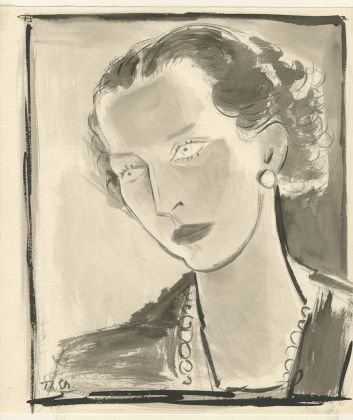 Theodore Strawinsky, Studio per il ritratto della regina Maria José di Savoia