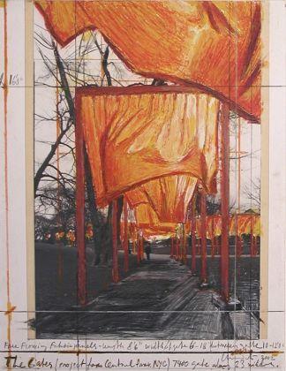 CHRISTO The Gates. Central Park-New York, 2002 28.4x21.5 cm Courtesy Galleria Tonelli, Milano