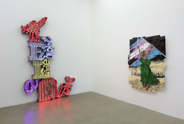 Andrea Bowers, Disrupting and Resisting, installation view at Kaufmann Repetto, Milano, 2018, courtesy the artist, Kaufmann Repetto, Milano/New York, photo Andrea Rossetti