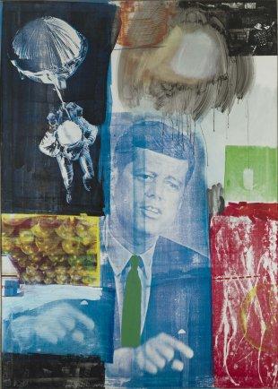 Anneta Duveen at work on her Robert F. Kennedy sculpture, 1971