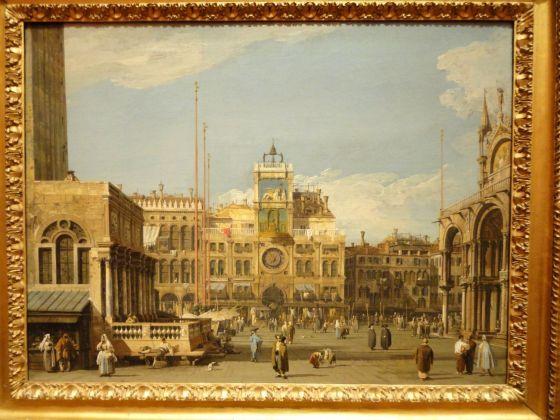 Canaletto (1697-1768), La Torre dell'Orologio in Piazza San Marco, Venezia, 1728-1730, olio su tela, cm 52,1 x 69,5, The Nelson-Atkins Museum of Art, Kansas City, Missouri. Purchase: William Rockhill Nelson Trust, 55-36. Photo credit: Melville McLean