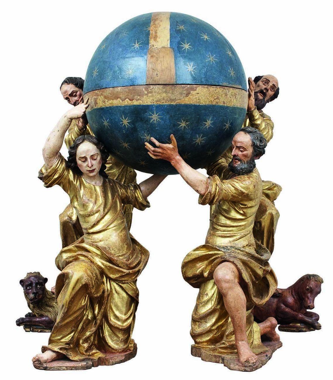 Andrea Brustolon, I quattro Evangelisti, 1700 ca., dalla scomparsa chiesa della S. Croce