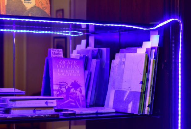 Angela Bulloch, The Blue Magic Library, 2018