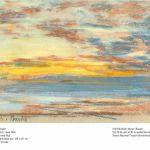 Boudin, Costa y ciel, 1865