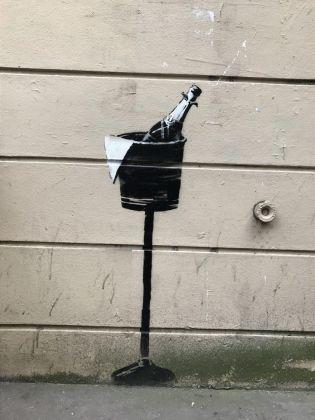 Uno murales di Banksy a Parigi