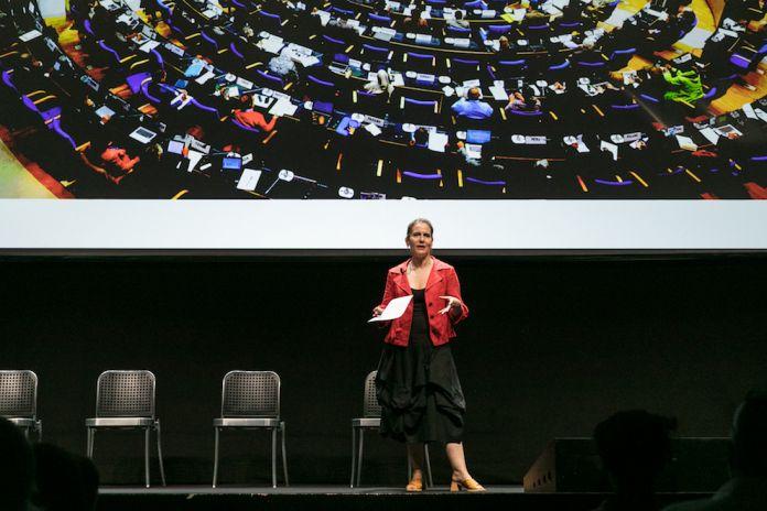 Broken Nature, a public symposium. Paola Antonelli, a capo del team curatoriale della XXII Triennale Milano. Foto Gianluca di Ioia. Courtesy La Triennale di Milano