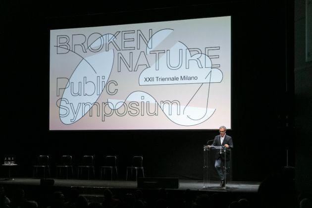 Broken Nature, a public symposium. Stefano Boeri, Presidente Triennale, Milano. Foto Gianluca di Ioia. Courtesy La Triennale di Milano