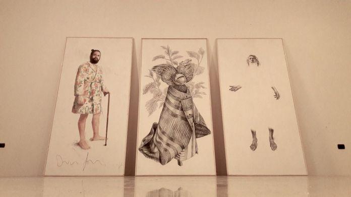 Dario Agrimi, Antonio Finelli, Angelo Maisto, Trittico della Società della Stanchezza, 2018. Museo Diocesano, Salerno. Photo credits Bledar Hasko